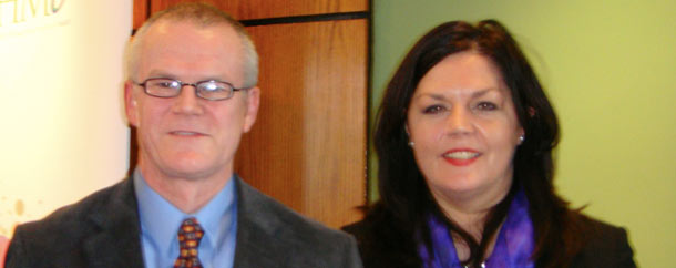 Finbarr Colfer, HIQA with Helen O'Dwyer, GSK