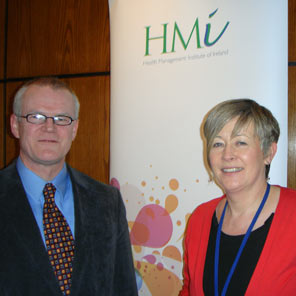 Finbarr Colfer, HIQA with Winnie Davern, Treasurer, HMI West