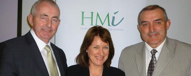 Pat Harvey, Chair of the PSA Health Service Implementation Body; Breda Crehan-Roche, Chief Executive, Ability West; and Richard Dooley, President, HMI.