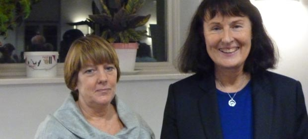 Ms. Lis Nixon with Ms. Pat O'Boyle, Chair, HMI Dublin/North Leinster Regional Committee