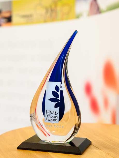 HMI Leaders Award trophy 2015